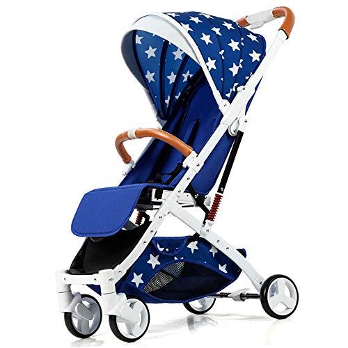 Cochecitos para bebés, cochecitos de muñeca, altura ajustables, adecuados para cunas recién nacidas con cunas, toldos grandes, hasta 20 kg,B