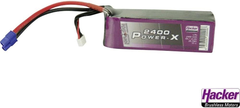 Batteria riautoicabile LiPo 14.8 V 2400 mAh 35 C Hacker EC3