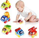BlueFire Coches de Juguetes, Tire hacia Atrás Coche Niños 2 Años, Mini Cars Juguetes para Bebés de 1 Año y Niños Pequeños, Coches Juguetes Niños y Niñas Regalo de Cumpleaños de Navidad (6 Piezas)
