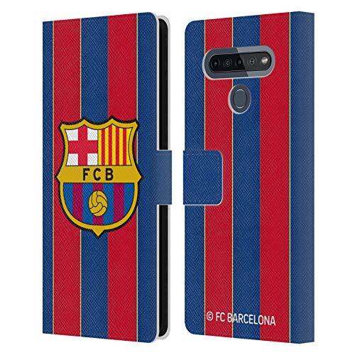 Head Case Designs Licenciado Oficialmente FC Barcelona Casa 2020/21 Kit de Cresta Carcasa de Cuero Tipo Libro Compatible con LG K51S