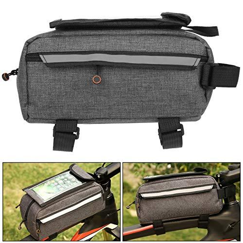 Snufeve6 Bolsa para Bicicleta, Bolsa para Guardar Bicicletas, Práctica para Exteriores Efecto Reflectante TPU Pantalla táctil de Alta sensibilidad Tela Oxford para Soporte para teléfono Bicicleta