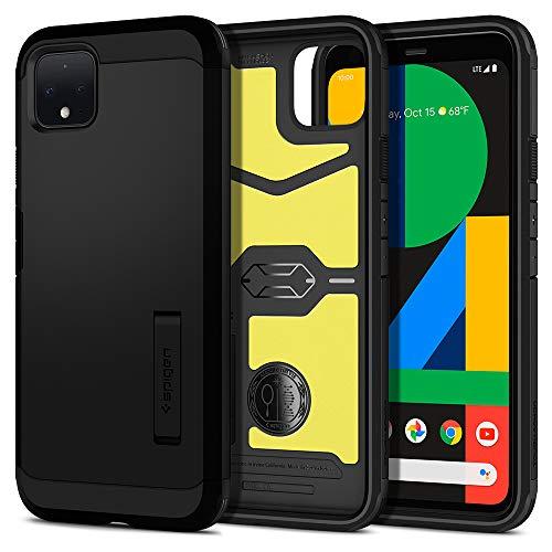 Spigen Tough Armor für Google Pixel 4 Hülle, Doppelte Schutzschicht Handyhülle für Extrem Fallschutz Schutzhülle Hülle Black F26CS27572