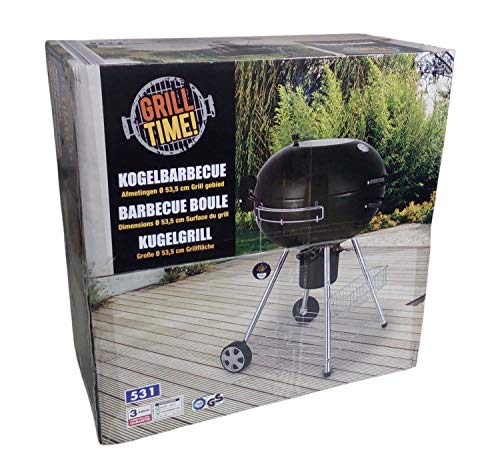1a-Handelsagentur Premium Kugelgrill Holzkohlegrill Grillwagen Gartengrill Standgrill Barbecue