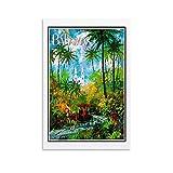 YRTZ Bahamas Vintage-Reise-Poster, Leinwand, Wandkunst,