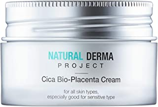 Natural Derma Project Cica Bio-Placenta Cream, 1.7 Fluid Ounces, Soothes Skin Breakouts, Especially Good for Sensitive Skin