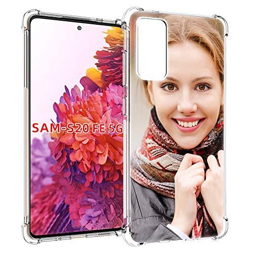 SHUMEI hülle für Samsung Galaxy S20 FE/S20 Fan/S20 Lite Personalisiertes Foto, Geschenk, Stoßdämpfung, weich, Transparent, TPU, DIY HD-Bild, Personalisierbar hülle