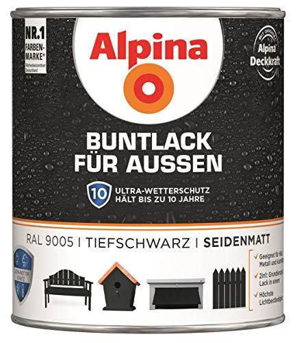 Buntlack für Außen Ral 9005 tiefschwarz seidenmatt 750 ml