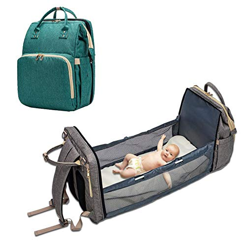 Paradesour Mochila para bebé, cambiador, convertible y ligera, bolsa de almacenamiento para pañales de bebé, bolsa de viaje multiusos