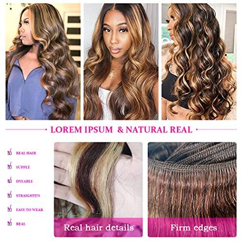 Brown blonde weave _image4