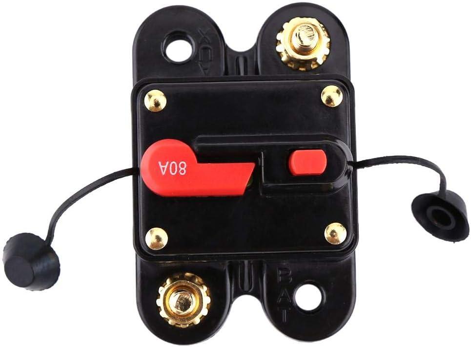 Disyuntor de CC de 12 V para autom/óvil Marina Barco Bicicleta Est/éreo Audio Restablecer fusible 80-300A Disyuntor para electrodom/ésticos grandes de autom/óviles proteger electrodom/ésticos 100A