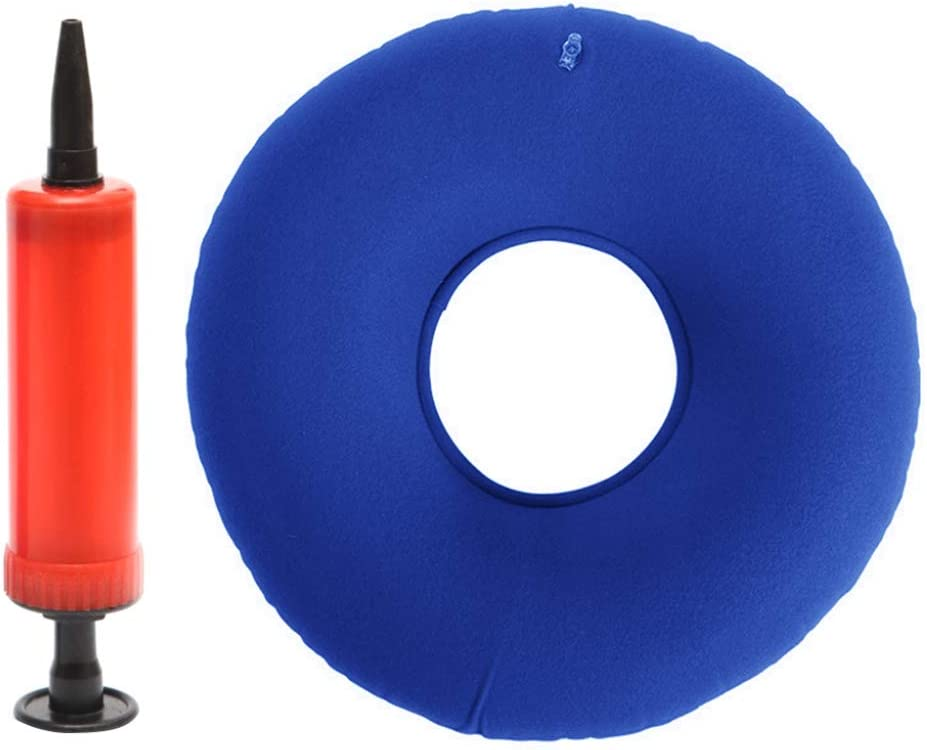 OLEEKA Almohadilla del Asiento Bomba Almohada Hemorroides Redondas PVC Llagas en la Cama Anillo Inflable de Goma Ideal para sillas de Ruedas Médicas
