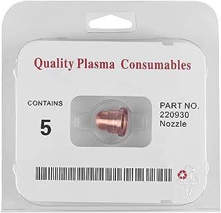 Boquilla de corte de plasma, 5pcs Boquillas de corte de plasma Sopletes para soplete Consumibles 220930 para cortadora MAX65