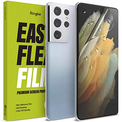 Ringke Easy Flex Kompatibel mit Galaxy S21 Ultra Displayschutz Schutzfolien [Wasser Installation] EPU Film Screen Protector - 2 Pack