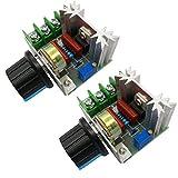 HiLetgo 2個セット2000Wサイリスタ ハイパワー電子レギュレーター 調光ライト スピード温度監視 [並行輸入品]