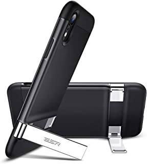 ESR Metal Kickstand Case for iPhone XR, [Vertical and Horizontal Stand] [Reinforced Drop Protection] Hard PC Back with Fle...