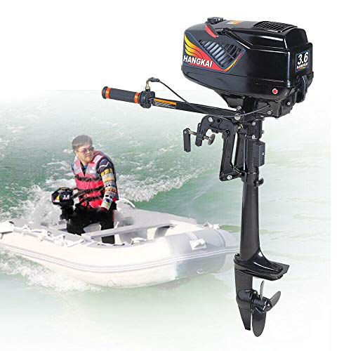 Check Out This CNCEST Outboard Motor 3.6HP 2-Stroke Heavy Duty Fishing Boat Engine Water Cooled Syst...