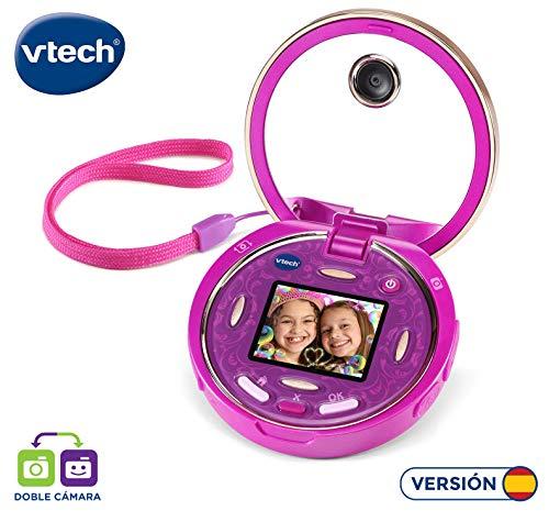 VTech - Kidizoom Pixi, doble cámara compacta de bolsillo para hacer fotos, selfis y vídeos, tapa abatible, juegos, filtros y música MP3 (80-520322)