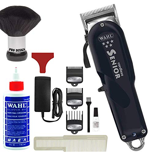 Wahl Professional 5-Star Series Cordless Senior Clipper #8504 - Great for Professional Stylists and Barbers - 70 Minute Run Time (Bonus Oil)