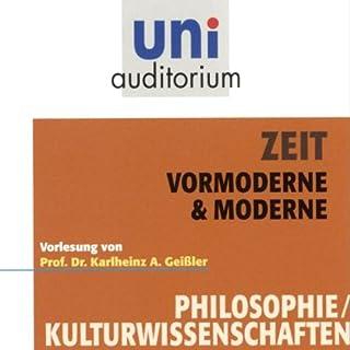 Zeit. Vormoderne und Moderne Titelbild