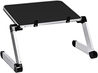 Portable Adjustable Aluminum Laptop Stand/Desk, Comfortable Knee Tray Bed Reading, Comfortable Office