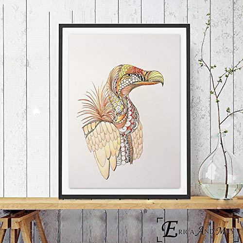 professionnel comparateur Sanzangtang Affiche abstraite de flammes d'aigle et d'oiseau et décoration murale imprimée – Peinture sans cadre 60X80cm choix