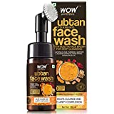 WOW Skin Science Ubtan Foaming Face Wash with Built-In Face Brush for Deep