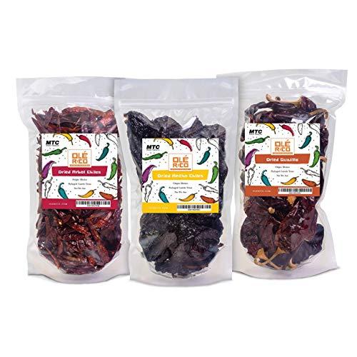 Dried Chili Pepper 3 Pack Bundle