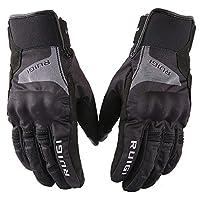 冬の手袋 タッチスクリーン 暖かくて防水 寒さと秋 冬のアウトドアライディングに適しています ユニセックス,black,M