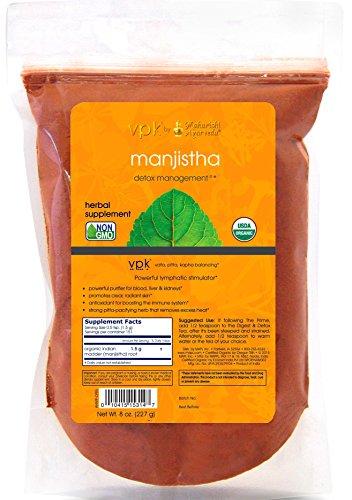 Organic Manjistha - 8 oz. (227g) | Powerful Lymphatic Stimulator | Antioxidant | Promotes Radiant Skin