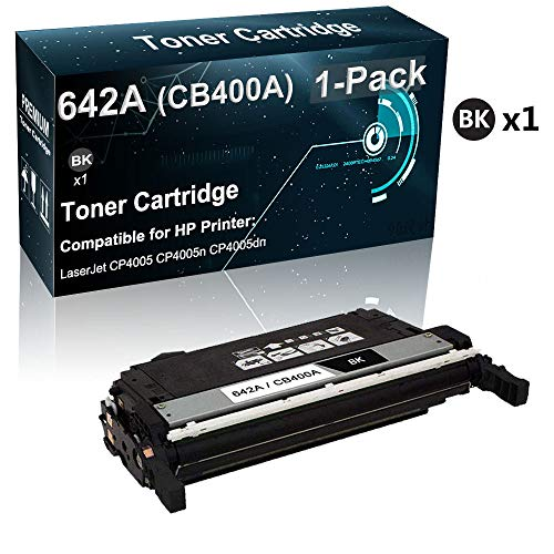 1-Pack (Black) Compatible High Yield 642A | CB400A Toner Cartridge Used for HP Laserjet CP4005 CP4005n CP4005dn Printer (Print True-to-Life Photos)