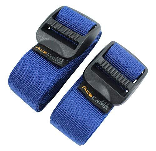 AceCamp Koffergurt Kofferband Packriemen Breit extra stark Allzweckgurt, 2.5 x 120cm, (Blau)