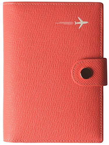 Passport Holder Cover Wallet RFID Blocking Leather Card Case Travel Document Organizer Red