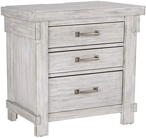 Signature Design by Ashley Brashland dressers, White, White Nightstand