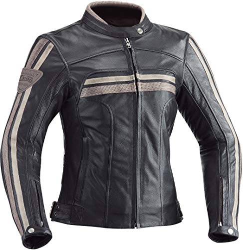 Ixon Heroes - Chaqueta de motorista para mujer, color negro, talla L