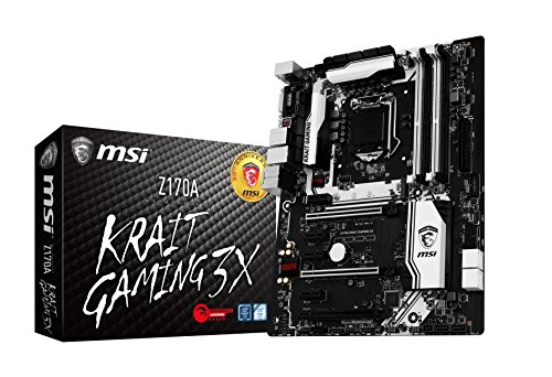 MSI Performance Gaming Intel Z170A LGA 1151 DDR4 USB 3.1 ATX Motherboard (Z170A Krait...