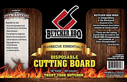 Disposable Cutting Boards- 30 count box - Safe on Knifes - Home or Commercial use - Safe for Electric or Chef knives
