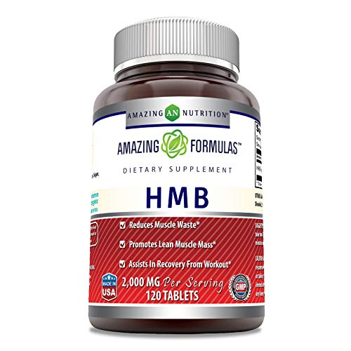 Amazing Formulas HMB 2,000 MG - 60 Servings - Supports Lean Muscle Mass - Boosts Workout Recovery Time -120 Count