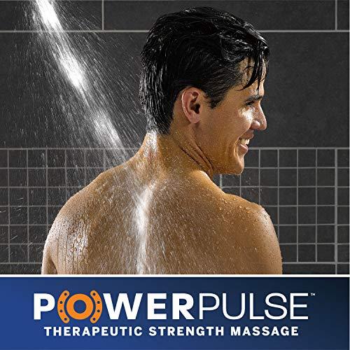 Waterpik High Pressure Powerpulse Massage Hand Held, 2.5 GPM, Chrome Detachable Shower Head with 7 Spray Settings and 5' Hose, XRO-763