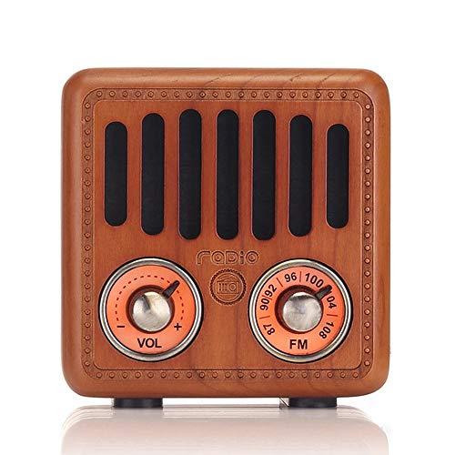 Tragbar Radio Vintage Radio Retro Bluetooth Lautsprecher Drahtloser mit Radio FM klein Holz Stereo Radio