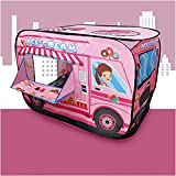 Prakal Children Game Tent, Fire Truck Tent, Light Transmittance Double-Stitched Eco-Friendly and Durable for Children Kids Travel Home(Ice Cream Truck)