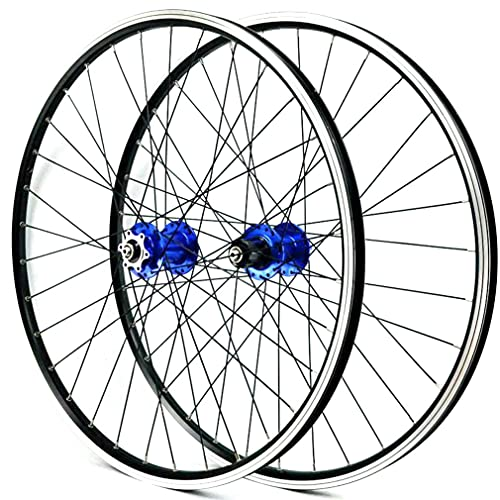 MZPWJD Ruedas 26/27.5/29 Pulgadas Bicicleta Montaña Ruedas Juego Freno Disco Freno V MTB Llanta Liberación Rápida Rueda 32H Buje 7/8/9/10/11/12 Velocidad Cassette 2200g (Color : Blue, Size : 29'')