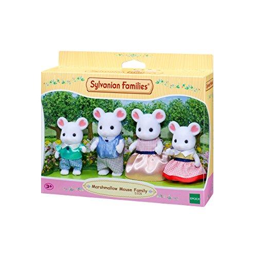 Sylvanian Families - Le Village - La Famille Souris Marshmallow - 5308 - Famille 4 Figurines - Mini Poupées