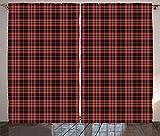ABAKUHAUS Schottenkaro Rustikaler Vorhang, Plaid Zusammensetzung Zusammenfassung, Wohnzimmer...