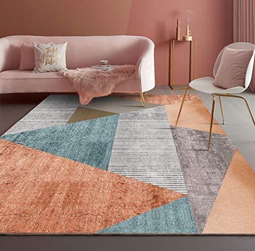 Liveinu Tappeti A Pelo Corto per Salotto Soggiorno Modern Design Tappeto per Salotto Arredamento Antiscivolo Lavabili Tappeto Classico Ornamenti 180x240cm STY-2-10