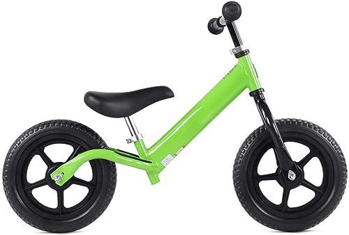 Enfants et tout-petits 12    Bike avec pneus sans air Guidon anti-dérapant Siège réglable Pas de pédale pousser et fouler Garçons Filles Sport Formation Vélo de marche pour enfants de 18 mois à