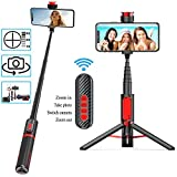 Bastone Selfie Bluetooth ,Mini Estensibile 3 in 1 Selfie Stick Treppiede Monopiede Lunghez...
