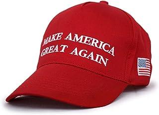 9cf1af06d BecyWell Make America Great Again Hat, USA MAGA Cap Adjustable Baseball Hats  Red