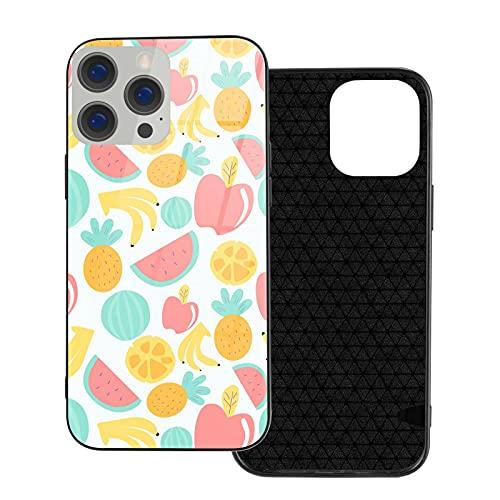 ZHJH Coque en verre pour iPhone 12/Pro/Mini/Pro Max - Motif fruits d'été - Anti-rayures, anti-poussière et anti-traces de doigts - Unisexe - Blueberry IP12Pro Max-6.7