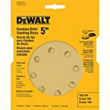 DEWALT DW4304 5-Inch 8 Hole 150 Grit Hook and Loop Random Orbit Sandpaper (5-Pack)