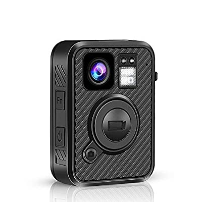 BOBLOV F1 2K 1440P Body Mounted Camera 32G WiFi Version GPS 8-10H Recording Body Worn Cam .66 inch LCD Screen Big Button for Recording